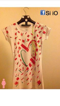 Tshirt Si iO dipinta a mano #siiotshirt #dipintaamano #fashionstyle #love #estate2014 #tshirt #forewoman