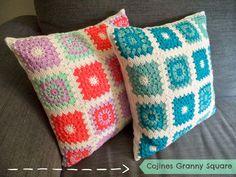Happy Ganchillo : Cojín Granny Square ¡Adorna tu casa con objetos bo...