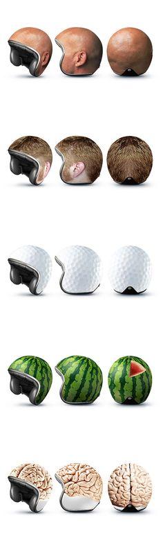 Und auch mit Helmen kann man Guerilla-Marketing machen...! Sieht doch cool aus, oder?!