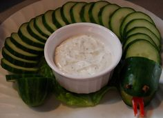 Awesome healthy snack idea for a reptile birthday party!