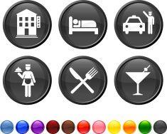 hotel royalty free vector icon set vector art illustration