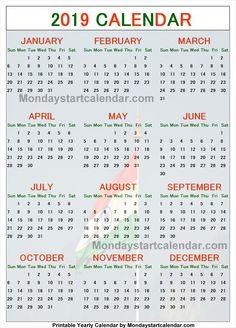 calendar 2019 india