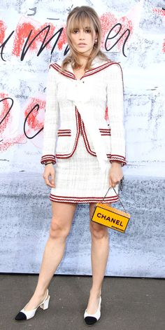 At the The Serpentine Summer Party in London, Suki Waterhouse rocked a head-to-toe Chanel look. Celebrity Skin, Celebrity Dresses, Celebrity Style, Star Fashion, Love Fashion, Suki Waterhouse, Chanel, Red Carpet Looks, Red Carpet Dresses