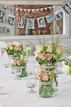 Snart klar for den store festen! Wedding Table, Diy Wedding, Rustic Wedding, Wedding Flowers, Wedding Ideas, Vibeke Design, Deco Champetre, Wedding Decorations, Table Decorations