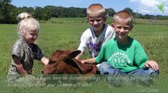 You, as a food buyer, have the distinct privilege of proactively participating in shaping the world your children will inherit.  Joel Salatin #Quote.  Whisnant family photo.