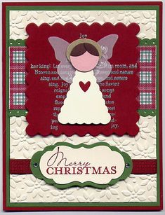 Angel punch card by Julie Arvin (note: butterfly wings) Christmas Cards To Make, Christmas Angels, Xmas Cards, Holiday Cards, Christmas Crafts, Punch Art Cards, Angel Cards, Nouvel An, Winter Cards