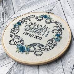 いいね!114件、コメント10件 ― Stitch + Knots ✂️さん(@stitchandknots)のInstagramアカウント: 「Another wedding hoop! I forgot how much I loved how this turned out! 」