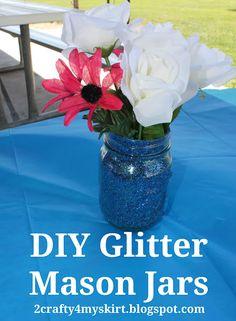 Glitter Mason Jar DIY