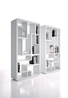 Open lacquered #bookcase SNAKE 3226 - Bross Italia