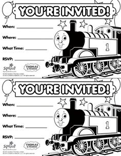 Black White Invitation To A Thomas Party