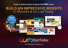 Build an impressive websites today and go LIVE in minutes.