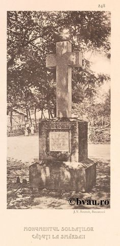 """Monumentul Soldaţilor Căzuţi la Smârdan, 1902, Romania. Ilustrație din colecțiile Bibliotecii Județene """"V.A. Urechia"""" Galați. http://stone.bvau.ro:8282/greenstone/cgi-bin/library.cgi?e=d-01000-00---off-0fotograf--00-1----0-10-0---0---0direct-10---4-------0-1l--11-en-50---20-about---00-3-1-00-0-0-11-1-0utfZz-8-00&a=d&c=fotograf&cl=CL1.44&d=J250_697980"""