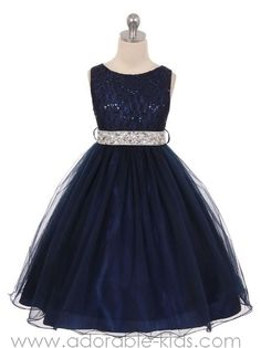 Florence Special Occasion Dress - NAVY BLUE