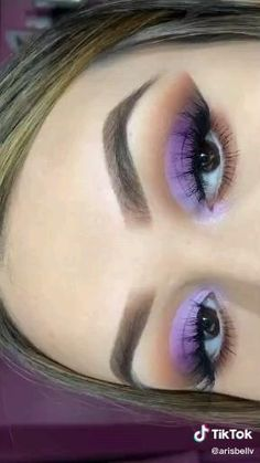 Smoke Eye Makeup, Purple Eye Makeup, Makeup Eye Looks, Eye Makeup Steps, Eye Makeup Art, Colorful Eye Makeup, Skin Makeup, Eyeshadow Makeup, Cute Makeup