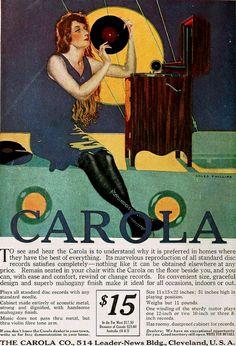 Coles Phillips Carola Record Player ad, November 1916