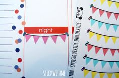Bunting banners PLANNER STICKERS (SWM2) (3.80 CAD) by STICKWITHMEshop