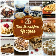 Love the flavors of fall? Check out these 25 Fall breakfast recipes that include pumpkin, gingerbread, cranberries, chocolate and more! #fallrecipes #breakfastrecipes #cinnamon #pumpkinrecipes #pancakes #muffins #breakfast www.pintsizedtreasures.com