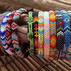 Image of Tribal Beaded Bangle (More Colors)