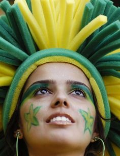 Brazil! Beautiful Supporters #WorldCup #Brazil #Beautiful #Football