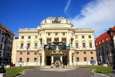 Old building of Slovak National Theater in #Bratislava. More on http://bratislava-slovakia.eu/about-bratislava/bratislava-city-parts/old-town