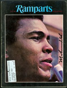 Ramparts, June 1967.   On the cover: Muhammad Ali, art director: Dugald Stermer