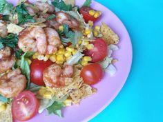 Mexicaanse salade met garnalen