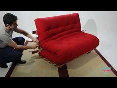 Sofa cama futon modelo S casal Kotton Futons - YouTube