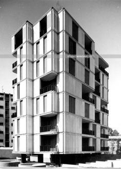 Residential building. Monza, Milano, Angelo Mangiarotti, 1972