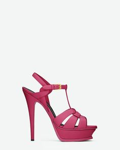 just saw these ysl sandals in real life the raspberry color is awesome i'm in love