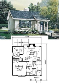 27 Adorable Free Tiny House Floor Plans - Craft-Mart Tiny House Cabin, Tiny House Living, Tiny House Design, Small House Plans, Tiny Home Floor Plans, Free House Plans, Mobile Home Floor Plans, House Design Plans, Tiny Guest House