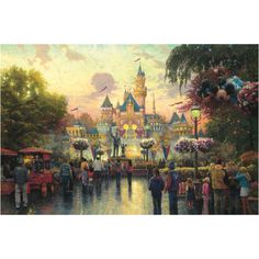 Thomas kinkade Disney dreams collection.