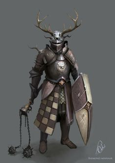 m Paladin w platemail armor helm shield flail Random Fantasy/RPG artwork I find interesting,(*NOT MINE) from Tolkien to D&D.hope you enjoy it! Fantasy Concept Art, Fantasy Armor, Fantasy Character Design, Medieval Fantasy, Character Art, Dnd Characters, Fantasy Characters, Armadura Medieval, Knight Art