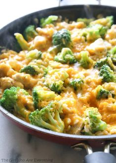 OnePan Cheesy Chicken Broccoli and Rice The Girl Who Ate Everything
