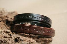 Matching Personalized Leather Bracelets