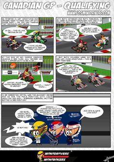 MiniDrivers Comic, Qualifying of GP Canada 2013.