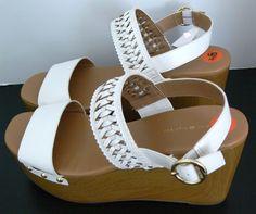 Tommy Hilfiger Rubena2 Platform Wedge Sandals Adjustable Ankle Strap Size 9.5 #TommyHilfiger #PlatformsWedges #Casual