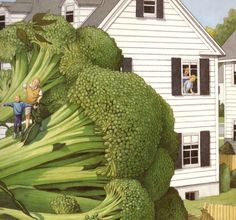 Now THAT broccoli really DOES look like a tree! Illustration from June 29, 1999 by David Wiesner