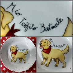 Platito para perro en porcelana!