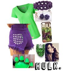 """Hulk."" by laurennn-michelle on Polyvore. Wanna see more ""Super Hero"" Outfits? Check out  laurennn-michelle on Polyvore!"