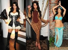 Disfraces celebrities Halloween: Kim Kardashian sensual