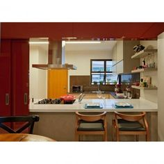 #decoracao #decorado #decorada #decor #decora #decorar #decoro #decora #decorando #projeto #arquitetura #interiores #cozinha #laca #vermelho #vermelha #coifa #integrada #integrado