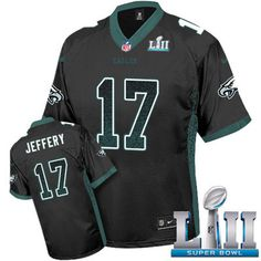002cac33d Nike Eagles  17 Alshon Jeffery Black Alternate Super Bowl LII Men s  Stitched NFL Elite Drift