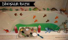 Fun dinosaur bath for kids