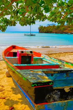 Colours of Time - An old boat with many layers of paint - Grenada by Chris Taylor on Beautiful Islands, Beautiful Beaches, Beautiful World, Managua, Grenada Beaches, Beach Please, Cities, Bahamas, Thinking Day