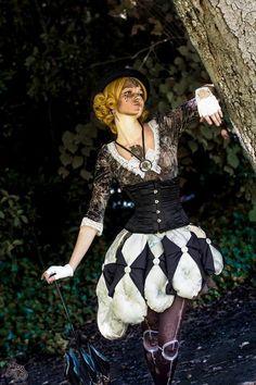 Costume cushion doll steampunk steam girl robe dress fait main original mad'Hands création coussins photo : Tenhaku