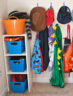 dress up accessory bins