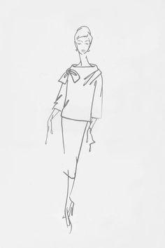 Fashion Sketches, Drawing Fashion, Fashion Illustrations, Vintage Fashion, Vintage Style, Christian Dior, Couture, Amalfi, Stylish