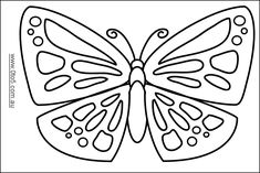 0to5 com au butterfly 3 template suitable for young children