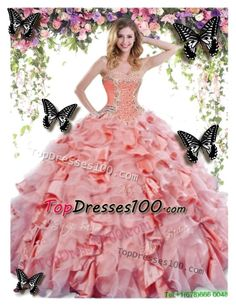 """""""Latest Big Puffy Quinceanera Dress"""" by topdresses100-2015 ❤ liked on Polyvore"""