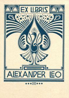ex libris art nouveau Ex Libris, Art Nouveau, Art Deco Tattoo, Linocut Prints, Retro, Vintage Posters, Printmaking, Book Art, Artwork